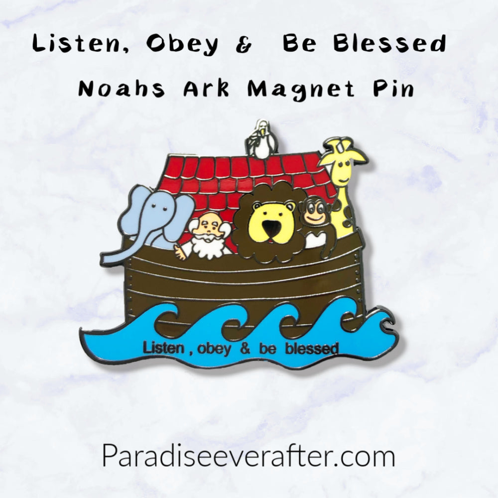 Listen, Obey & be Blessed Magnet Pin**50 Pack**