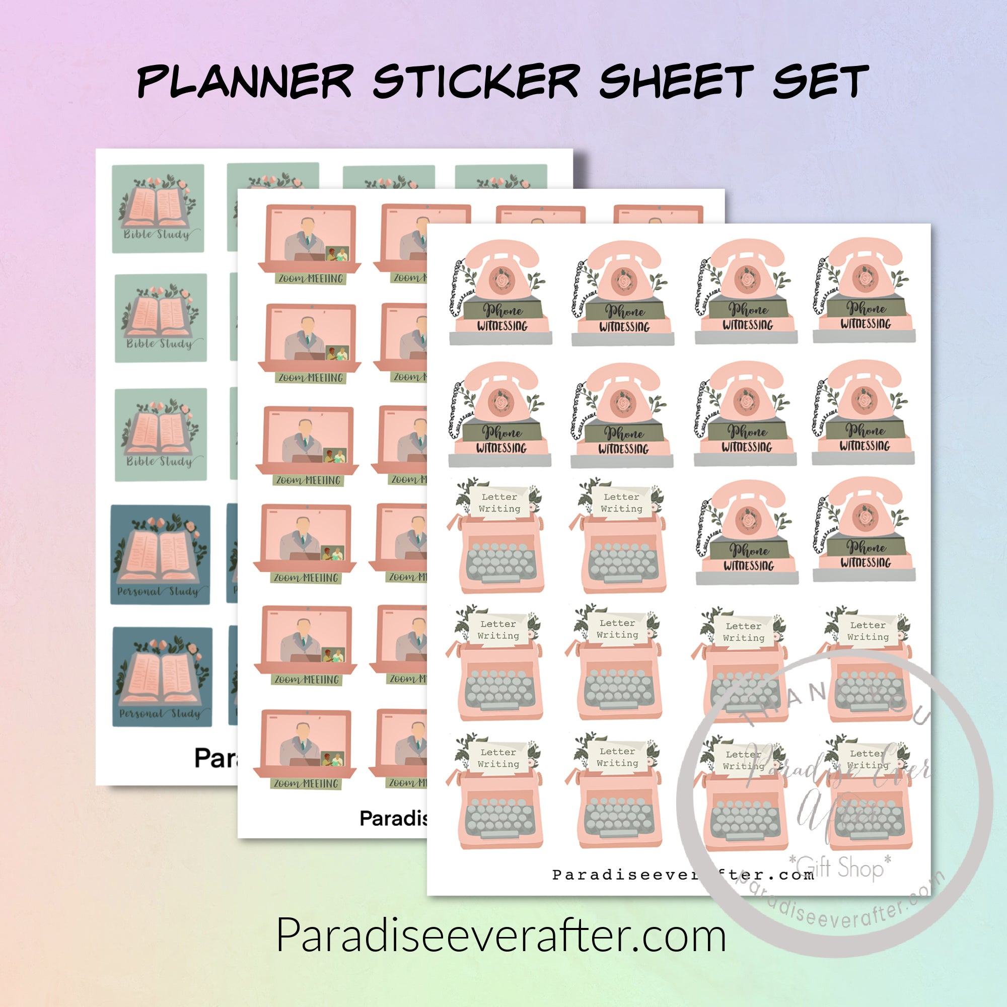 Planner Sticker Sheets