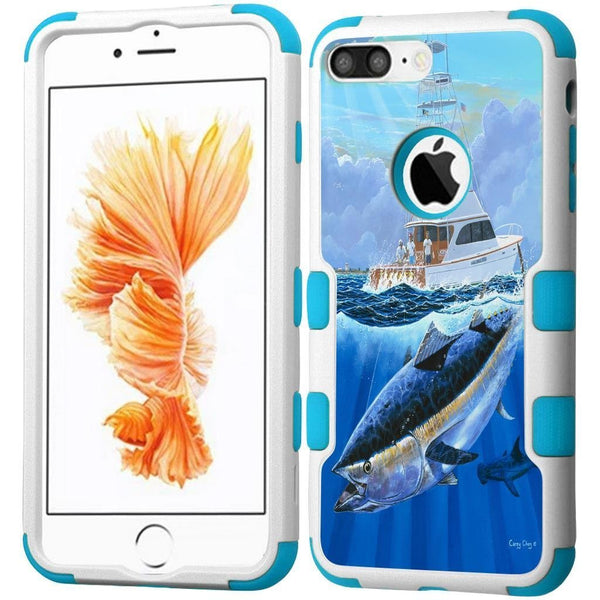 Apple iPhone 7 Fishing Series-Hybrid Tuff Case - Blue Marlin