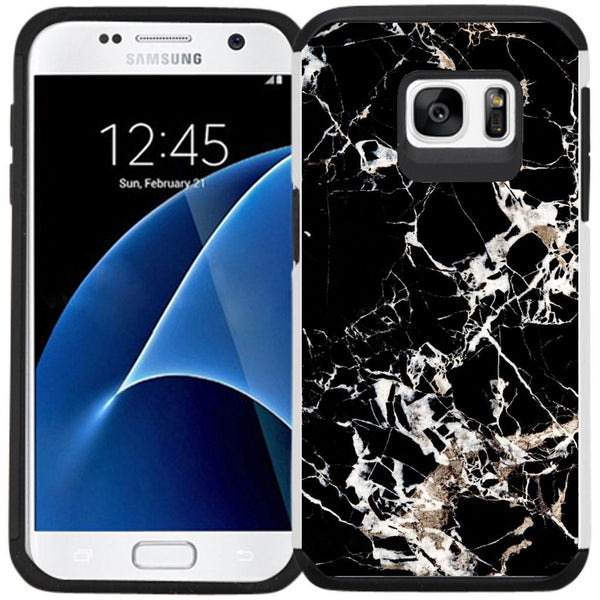 Samsung Galaxy S7 Case - Slim Hybrid Case Dual Layer Protective Phone Cover