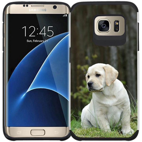 Galaxy S7 EDGE Case - Slim Hybrid Case Dual Layer Protective Phone Cover