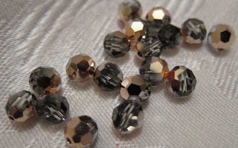 #5000 Rose Gold 6mm Round Crystal (lot of 18)