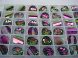 #5107 Vitrail Medium 6 RIGHT and 6 LEFT 10mm Pagoda Crystals (lot of 12)