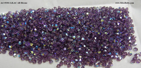 #5301 Lilac AB 4mm Bicone (lot of 60)