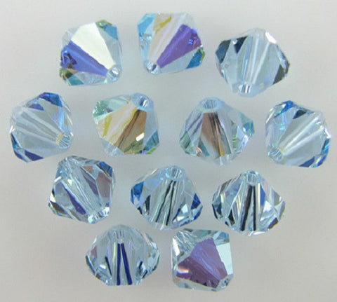 #5301 Alexandrite AB 8mm Bicone (lot of 12)
