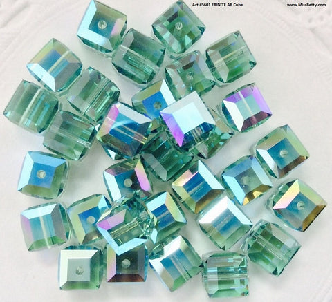 #5601 Erinite AB 8mm cube (lot of 12)