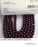 #5810 Blackberry 6mm & 8mm Pearls (lot of 25)