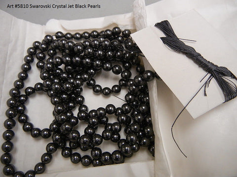 #5810 BLACK 7mm & 8mm Pearls (lot of 25)