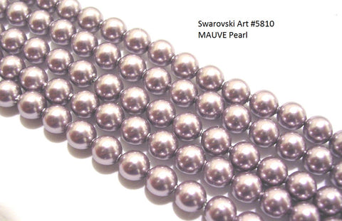 #5810 MAUVE 8mm Pearls (lot of 25)