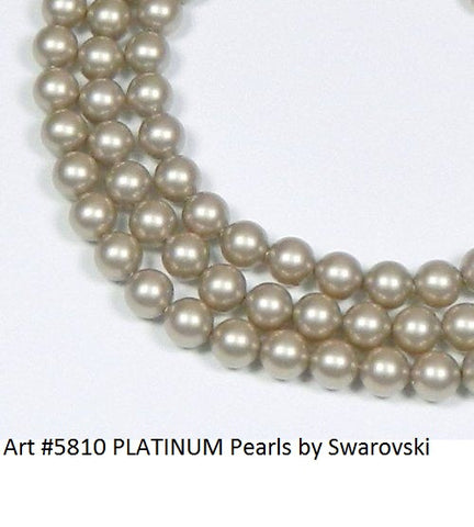 #5810 PLATINUM 8mm Pearls (lot of 25)