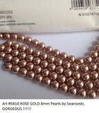 #5810 ROSE GOLD 8mm Pearls (lot of 25)