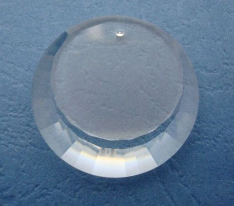 #6210 Clear 27mm Crescent Mirror Pendant Crystal (lot of 2)