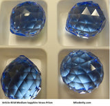 #8558 Medium Sapphire 20mm Prism (lot of 2)