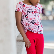 Load image into Gallery viewer, Girl Power Knotted Tee and Crop