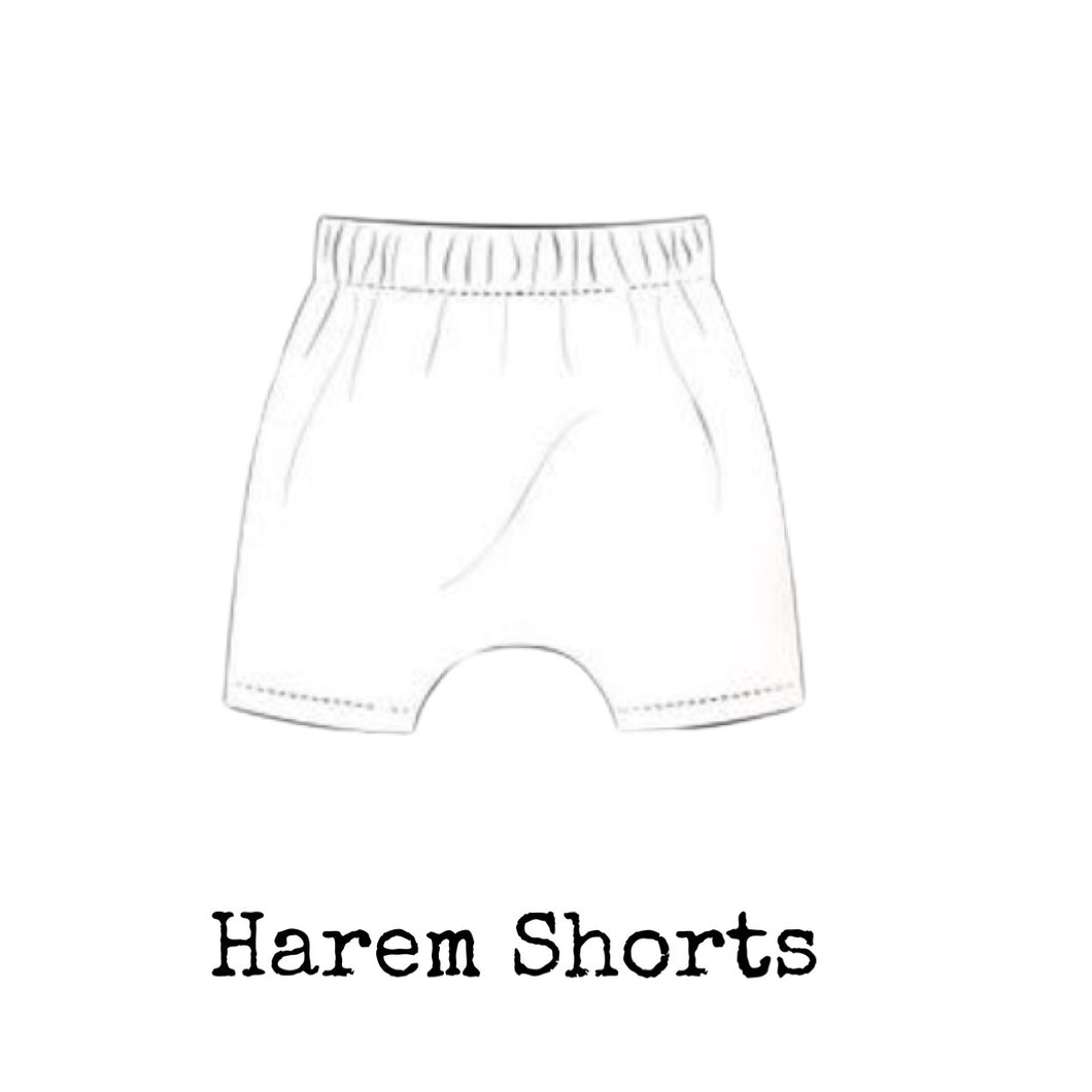 Kids Solid Harem Shorts