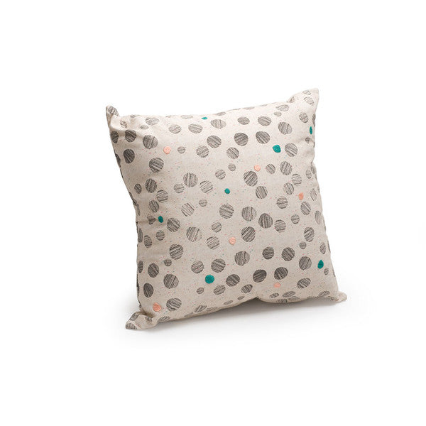 Emily Green Polkadots and Moonbeams Exhibition Edition X embroidered cushion