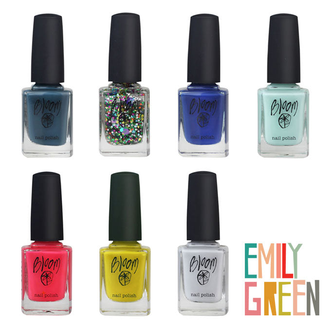 Emily Green x Bloom Cosmetics Limited Edition Nail Polishes and Necklace