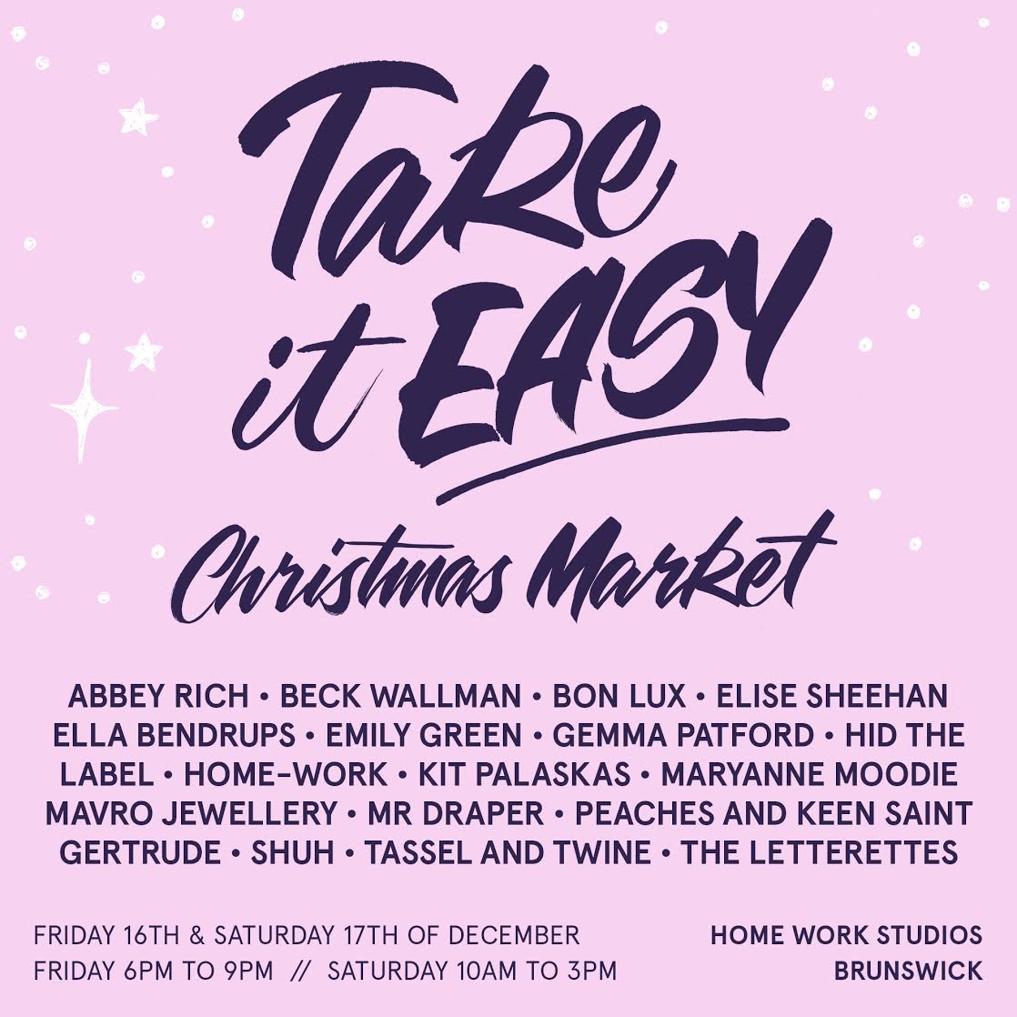 take it easy christmas market