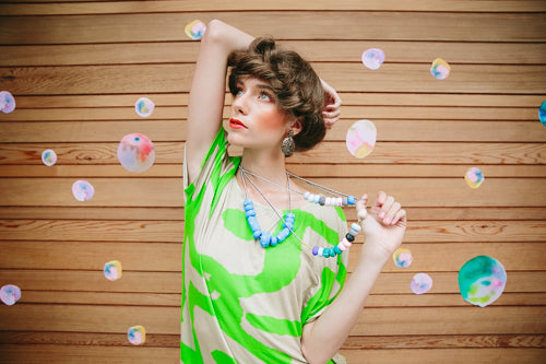 woodnote photography x emily green memphis terrazzo photoshoot