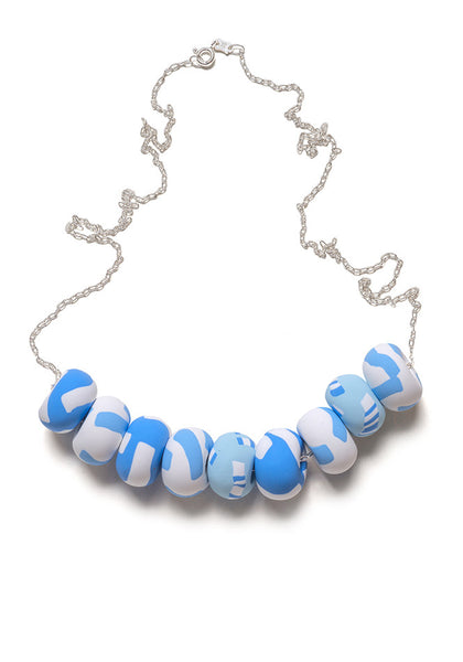 Azure Tape Limited Edition 9 Bead Necklace