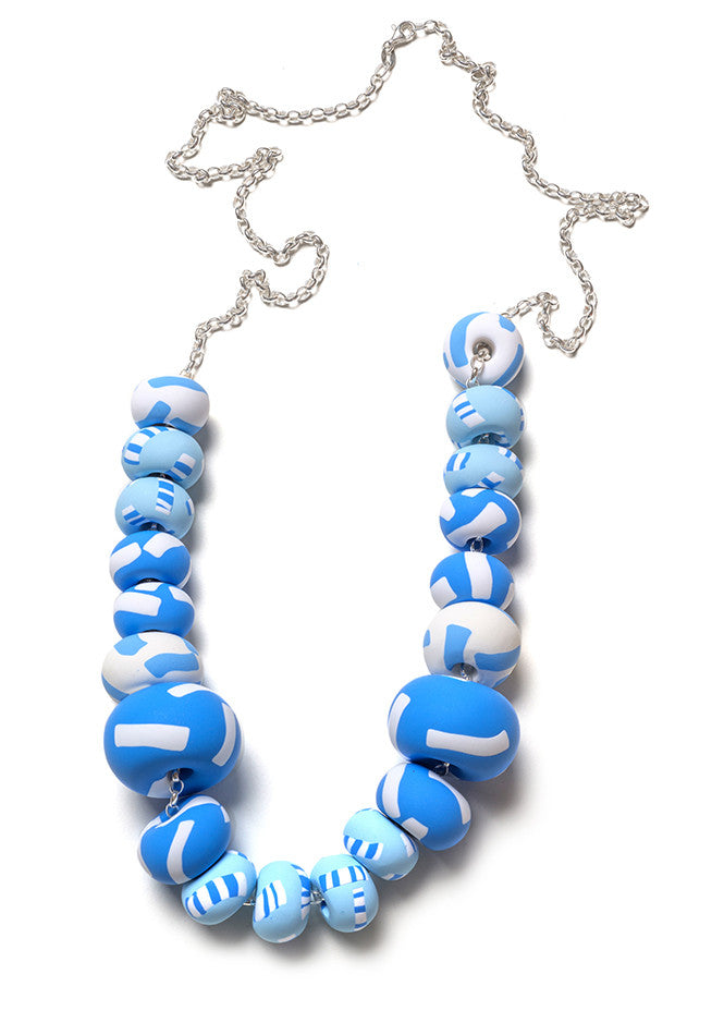 Azure Tape Limited Edition Big Bead Necklace