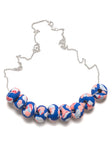 Blue and Peach Ink Limited Edition 9 Bead Necklace