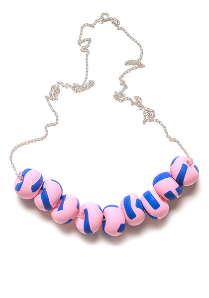 Blue and Rose Tape Limited Edition 9 Bead Necklace