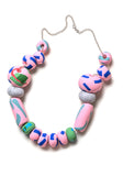 Blue and Rose Tape Limited Edition Big Bead Necklace