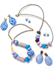Blue Dahlia Big Bead Necklace