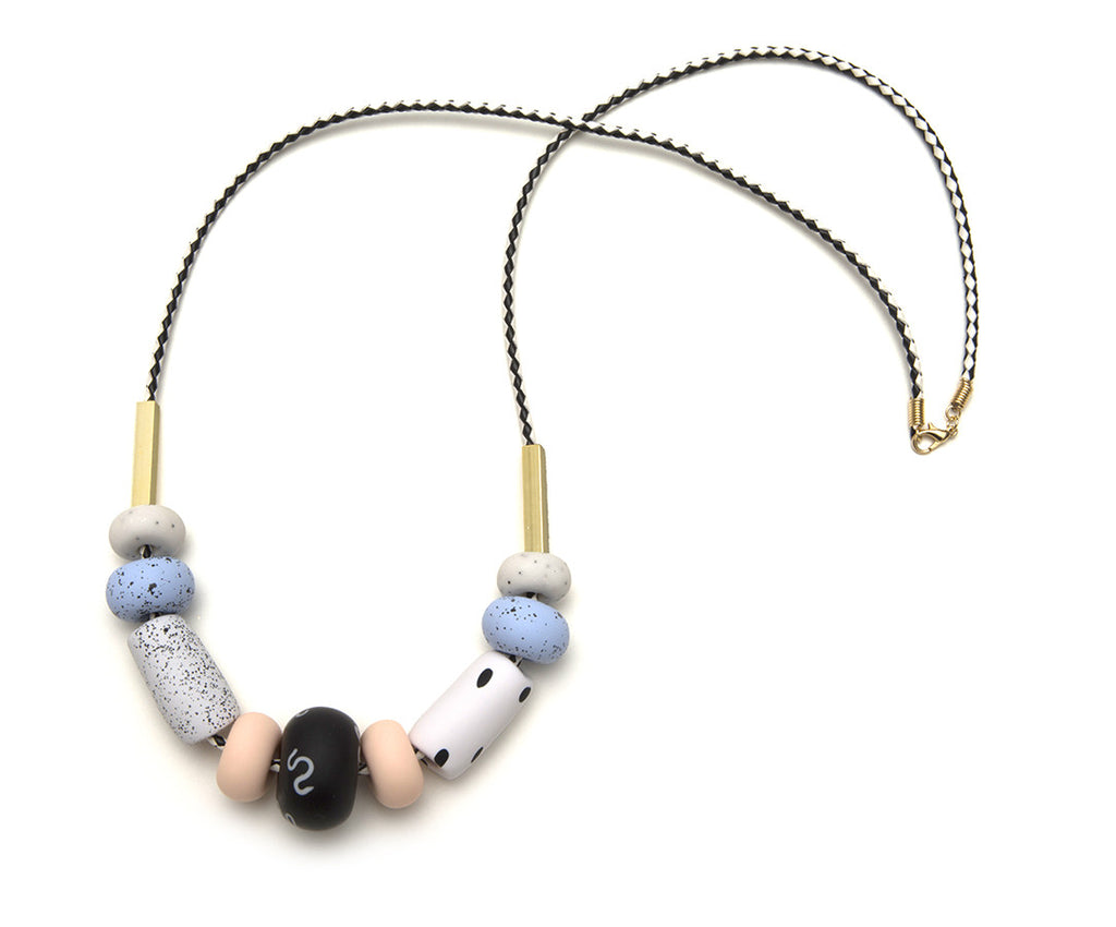 Celeste Blue Big Bead Necklace