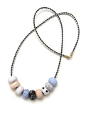 Clara Blue 9 Bead Necklace