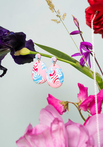 Sakura 2-Part Drop Earrings