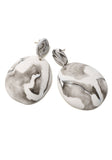 Blanche Marble Drop Earrings