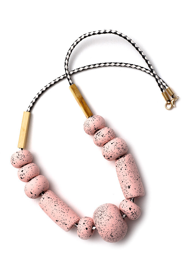Messina Blush Big Bead Necklace