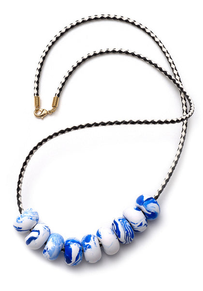 China Blue 9 Bead Necklace