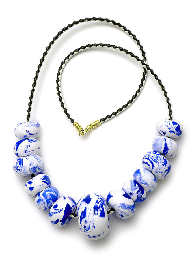 China Blue Big Bead Necklace