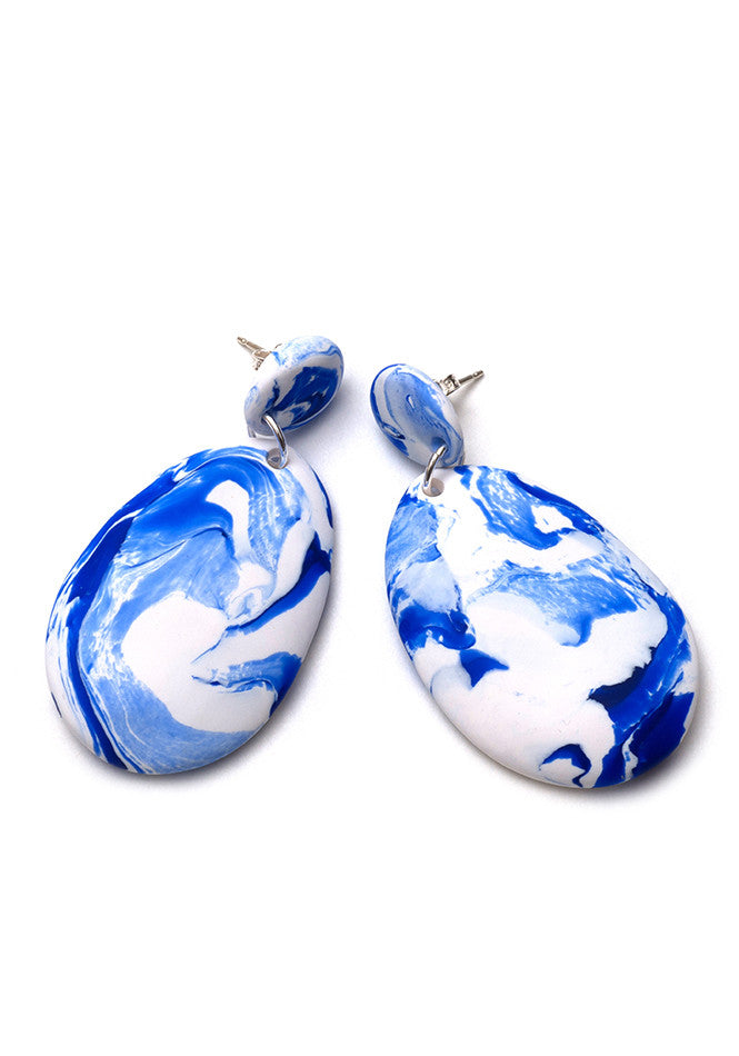 China Blue Drop Earrings