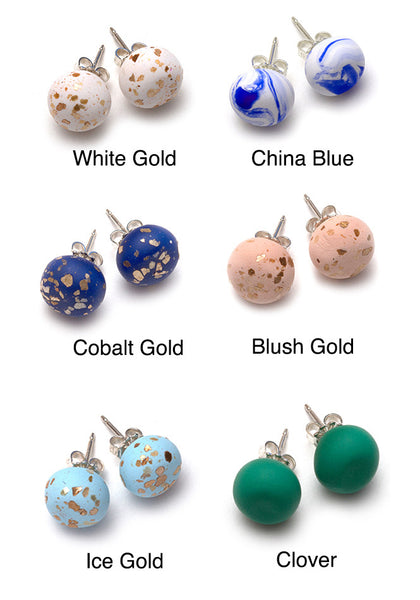 China Blue Collection Stud Earrings