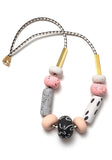 Celeste Salmon Big Bead Necklace