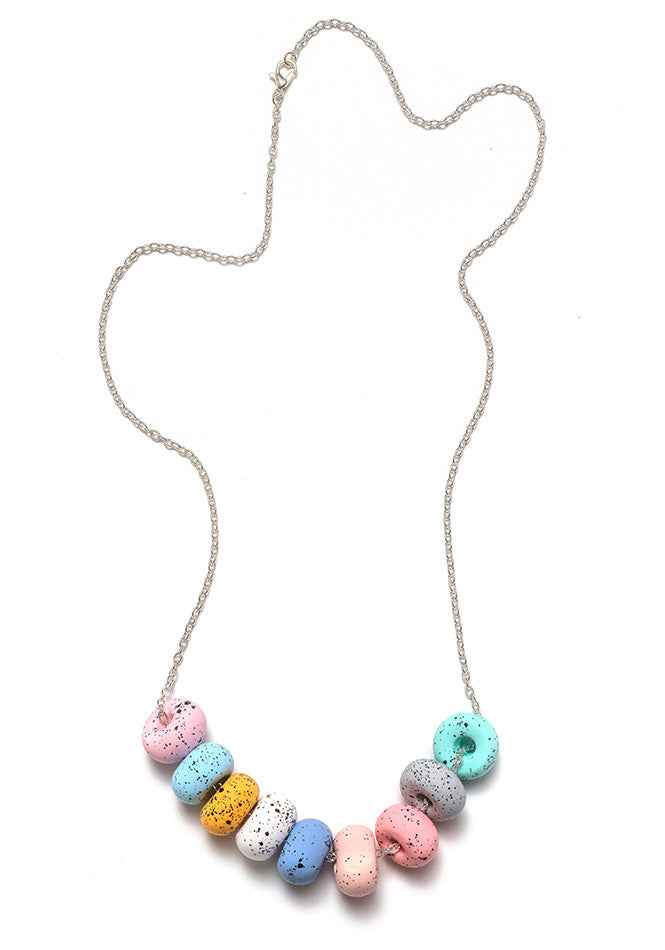 Chalk 9 Bead Necklace