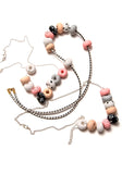 Clara Salmon 9 Bead Necklace