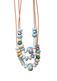 Grey Ink Big Bead Necklace