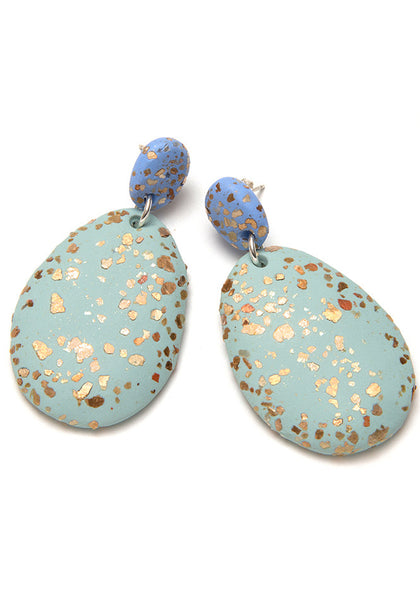 Hyacinth and Eucalypt Terrazzo Drop Earrings