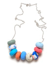 Icelandic Blue Tape 9 Bead Necklace