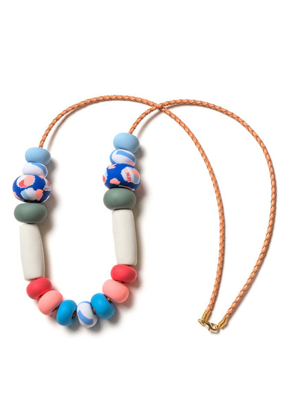 Icelandic Blue Tape Big Bead Necklace