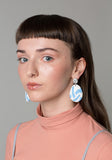 Icelandic Blue Tape Drop Earrings