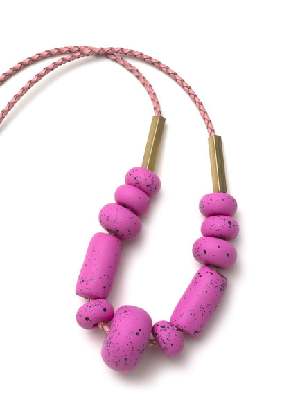 Messina Raspberry Big Bead Necklace