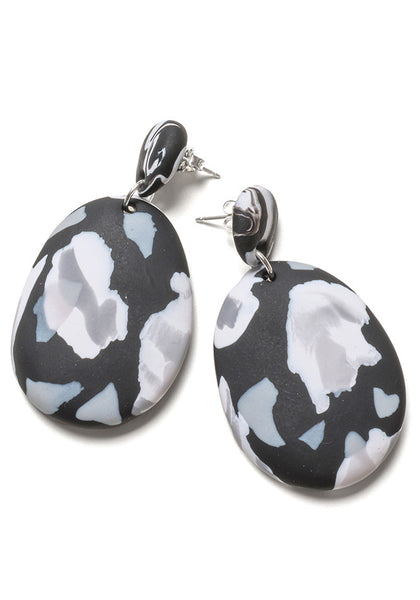 Noir Collage Drop Earrings