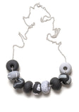 Noir Tape 9 Bead Necklace