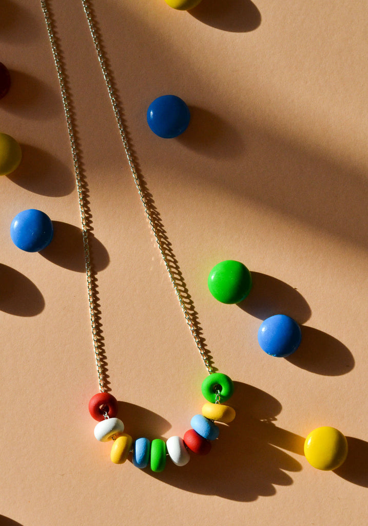 Primary Plus Mini Bead Necklace
